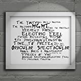 `Noir Paranoiac` Art Print - MGMT - Oracular Spectacular - Signed & Numbered Limited Edition Typography Wall Art Print - Song Lyrics Mini Poster