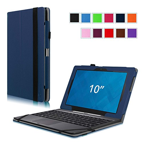 New Fintie Dell Venue 10 / Venue 10 Pro 5000 Series Case - [Folio Fit] Premium Leather Keyboard Stan...