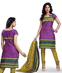 Kesar Sarees Fancy Printed Wine Cotton Dress Material