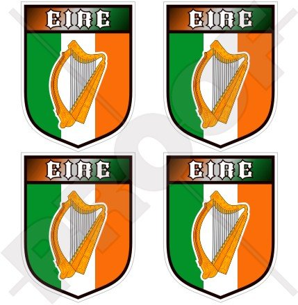 irlanda-irlandese-eire-gaelic-harp-scudo-50mm-2-adesivi-in-vinile-sticker-decalcomanie-x4