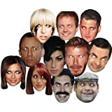 10 X Celebrity Face Mask - Hen Stagg Party Christmas Birthday Fancy Dress Parties