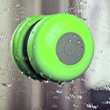 Glodeals Splash Shower Tunes (Green) - Waterproof Bluetooth Shower Speakers and Remote