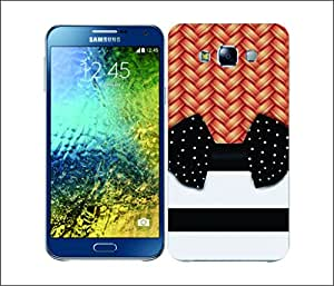 Galaxy Printed 1737 Chick Wicker stripes dot Hard Cover for samsung E5