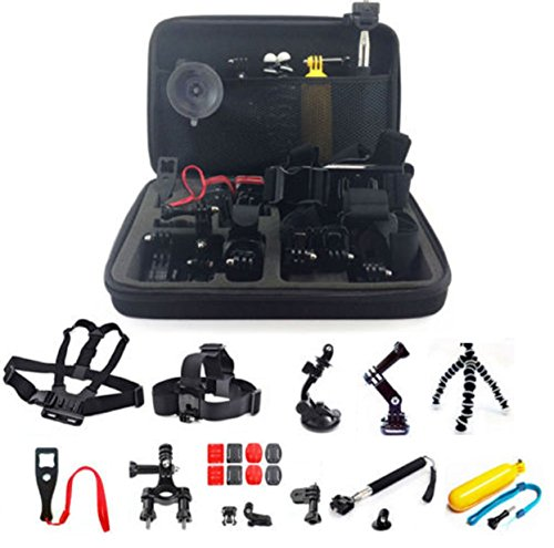 9 In 1 Head GoPro Mount Case Chest Monopod Accessories Battery Karma Gimball Leans 2 3 4 5 Camera