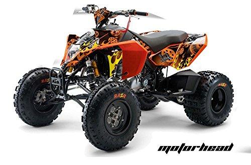 AMR Racing KTM 450, 525 and 505 ATV Quad, Graphic Kit - Motorhead: Orange (Ktm 525 Quad compare prices)