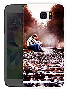 "Humor Gang Sad Girl On Track Printed Designer Mobile Back Cover For ""Samsung Galaxy Note 6"" (3D, Matte, Premium Quality Snap On Case)"