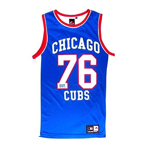 Majestic Chicago Cubs Macro Poly Mesh Singlet-Vestaglia Uomo    blu X-Large