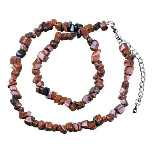 Pugster Dark Brown Semi Precious Chip Stone Necklace