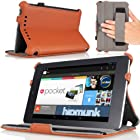 MoKo Slim-Fit Multi-angle Folio Cover Case for Google Nexus 7 Android Tablet by ASUS, BROWN (with Smart Cover Auto Wake/Sleep Feature)