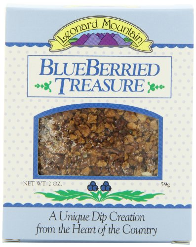 Leonard Mountain Blueberried Treasure Fruit Dip, 2-Ounce. Boxes (Pack of 6)