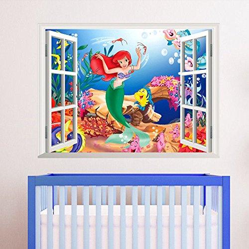 Fun trendy and georgeious little mermaid bathroom decor for 3d baby room design