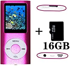 Tom America INC Pink Portable MP4 Player MP3 Player Video Player with Photo Viewer , E-Book Reader , Voice Recorder + 16 GB Micro SD Card