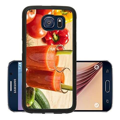 Liili Premium Samsung Galaxy S6 Aluminum Snap Case Healthy drink vegetable juice studio shot IMAGE ID 17721936 (California Cool Dill compare prices)