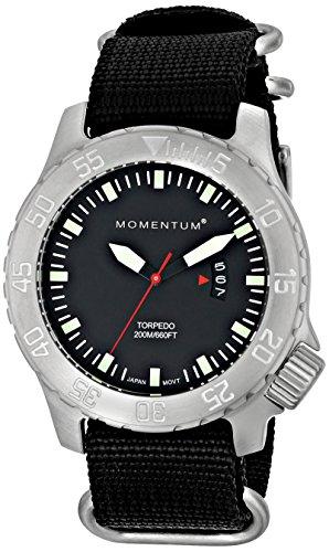 Momentum 1M-DV74B7B - Reloj para hombres, correa de nailon color negro