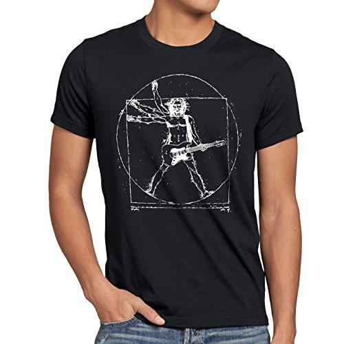 style3 Da Vinci Rock T-shirt da uomo musica festival, Dimensione:2XL;Colore:Nero