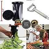 Best Veggie Spiralizer Bundle - Black Spiral Slicer + 3in1 Julienne slicer/peeler + eBook. Vegetable Spiralizer/Zucchini Spiralizer Veggie Pasta maker, Spaghetti Maker, Zucchini noodle maker/Zoodler