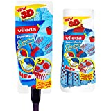 Vileda Supermocio 3 Action Mop with Extra Refill