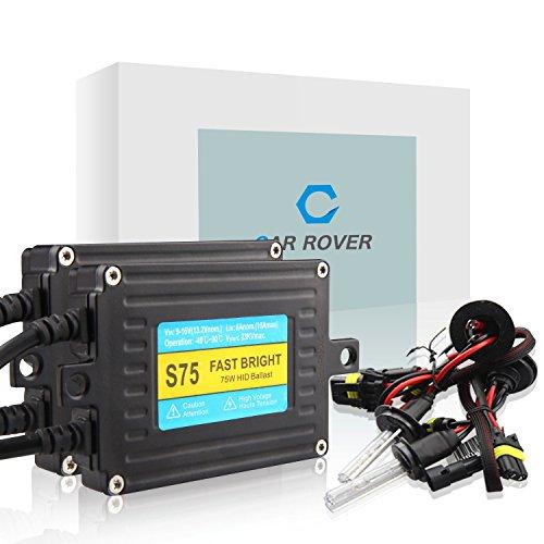 Car Rover® 75W H1 Xenon HID Kit di Conversione con Fast Luminosa Zavorra Lampada del Faro 6000K