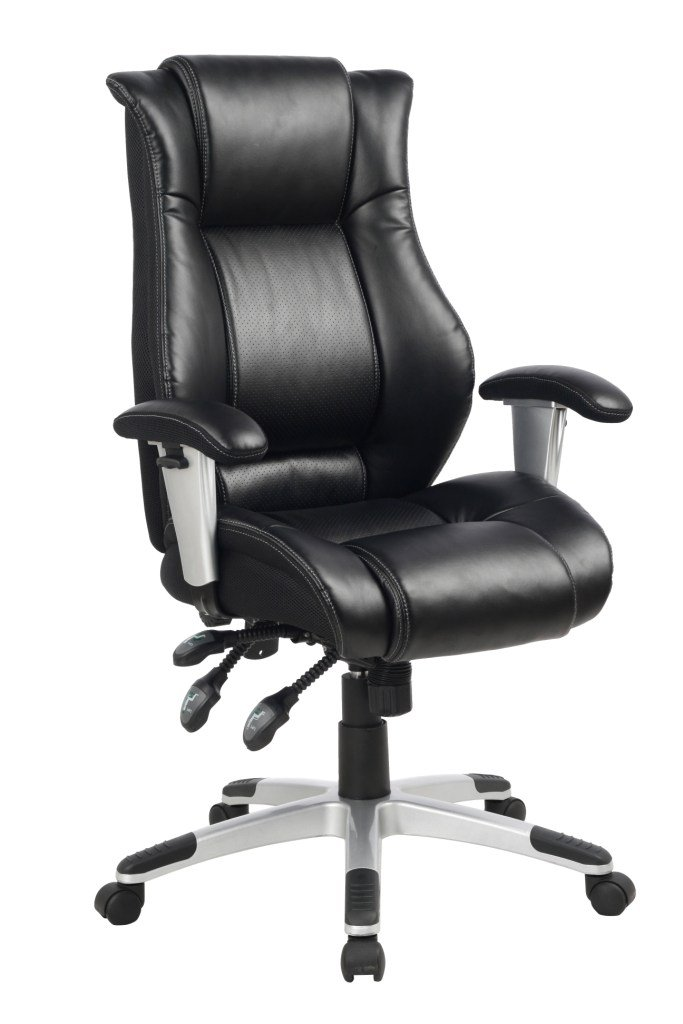 VIVA OFFICE® HOT High Back Ergonomic Bonded Leather Executive and Managerial Office Chair, Recliner Fully Adjustable Office Chair with Side Waist Support and Excellent Lumbar Support – VIVA0566A