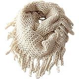 EUBUY Fashionable Autumn Winter Baby Kids Toddler Knit Warmer Tassels Neck Scarf Circle Loop Round Scarves Shawl(Beige)