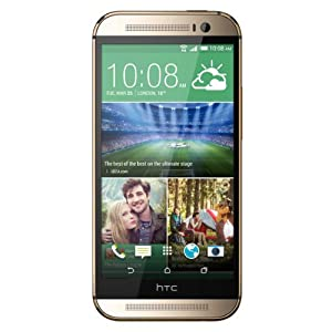 HTC One M8 UK Sim Free Smartphone - Amber Gold