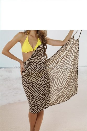 womens cream and chocolate one size 8 10 12 beach sarong cover up
