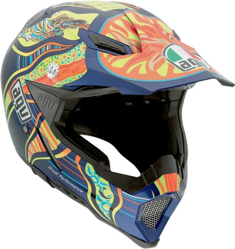 AGV AX-8 Rossi 5-Continents Evo Helmet (Multicolor, Small)