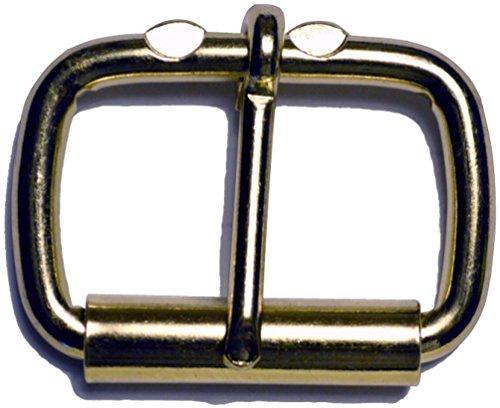Ohio Travel Bag Heel Bar Roller Buckle - 6 Pack (1in, Brass)