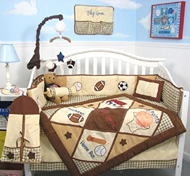 Perfect Bedding Sets SoHo Let us Play Game Baby Crib Nursery Bedding Set pcs included Diaper