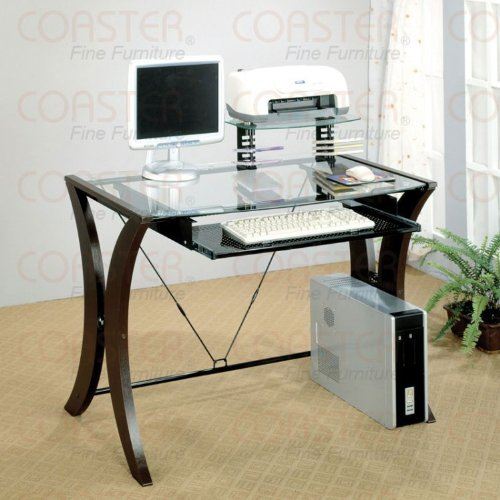 Buy Low Price Comfortable Computer Desk In Cappuccino Finish (B003XRFR2S)