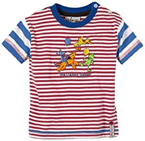 Coppenrath - Camiseta a rayas con cuello redondo de manga corta para bebé