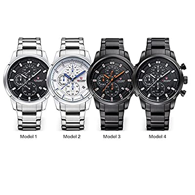 Longbo 4 Colors 80181G Analog Quartz 30M Waterresistant Men's Watch Stainless Band Business Watches for Men