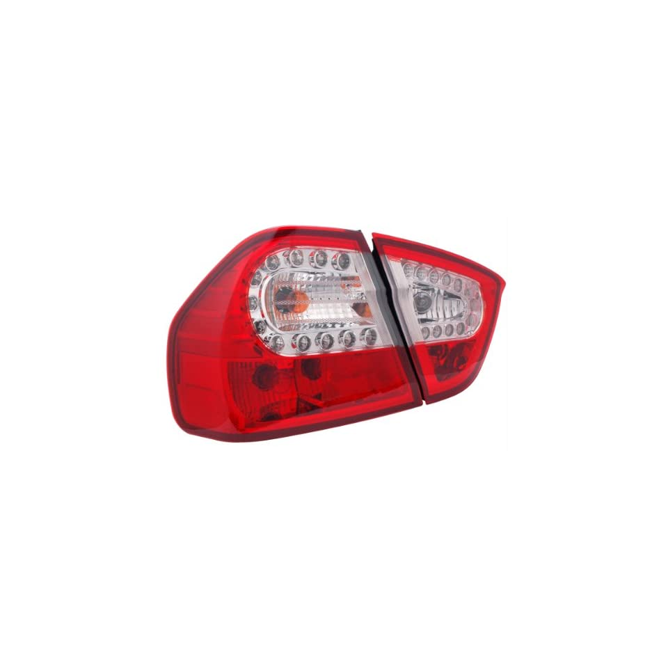 2005 2008 Bmw 3 series E90 4 Dr Led Tail Lights Red/clear