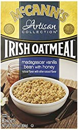 McCann\'s Artisan Collection Instant Oatmeal, Madagascar Vanilla Bean with Honey, 8 packets, net weight 10.7oz