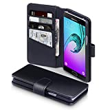 2016 Galaxy A5 Case, Terrapin [ECHT LEDER] Brieftasche Case