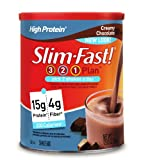 SlimFast High Protein Creamy Chocolate Shake Mix, 12.83 Ounce (Pack of 3)