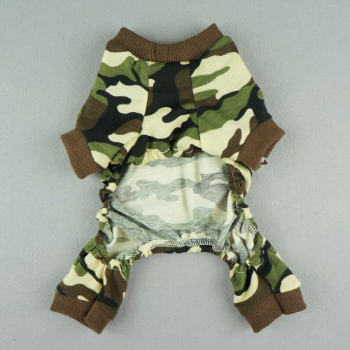Fitwarm Stylish Army Green Camouflage Dog Shirts Jumpsuit ...
