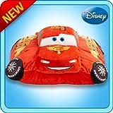 Pillow Pets Authentic Disney-Cars 18 Lightning McQueen, Folding Plush Pillow- Large Color: Lightning McQueen Toy, Kids, Play, Children