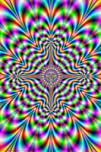 Psychedelic Pulse Optical Illusion Art Poster Print  2421536