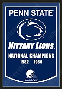 Dynasty Banner Of Penn State Nittany Lions With Team Color Double Matting-Framed... by Art and More, Davenport, IA
