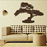 Bonsai Tree Wall Sticker / Interior Vinyl Art / Large Tree Wall Transfer TR21