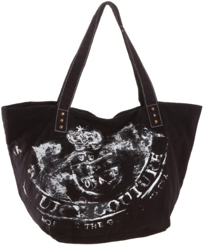 Juicy Couture Gen Y Rebel Crest Canvas Tote Bag