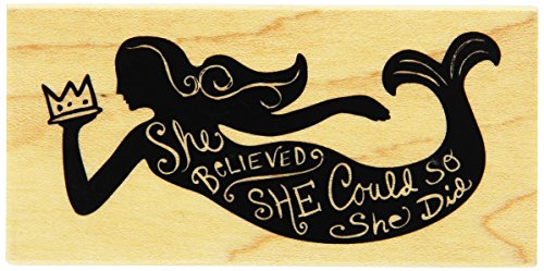"Inkadinkado She Believed Mounted Rubber Stamp, 1.75"" by 3.5"""