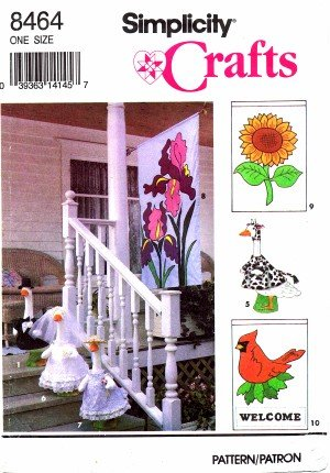 Simplicity 8464 Crafts Sewing Pattern Lawn Geese Clothes and Flags (Goose Clothes Patterns compare prices)