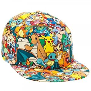 Nintendo Pokemon All Over Print Sublimated Snapback Casquette de