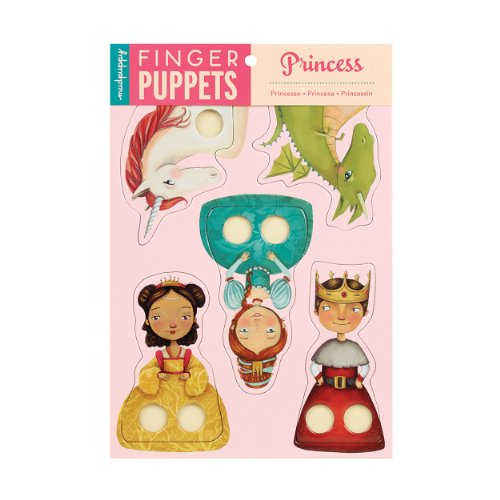 Mudpuppy Princess Finger Puppets