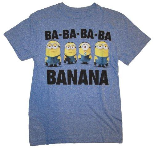 Despicable Me 2 Minion Banana Blue Graphic T-Shirt - Large