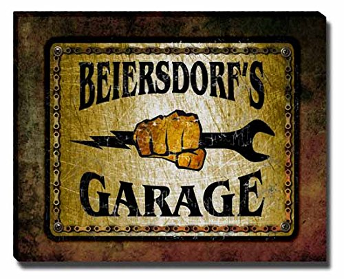 beiersdorfs-garage-stretched-canvas-print