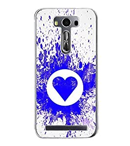 Blue Heart 2D Hard Polycarbonate Designer Back Case Cover for Asus Zenfone 2 Laser ZE500KL (5 INCHES)