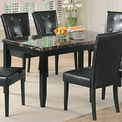 Coaster home furnishings 102791 casual dining table black for Casual kitchen dining